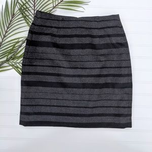 Banana Republic Gtay/Black Wool Blend Pencil Skirt